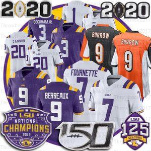 LSU Tigers Jersey 9 Burreaux Odell Beckham Jr. Leonard Fournette Tyrann Mathieu Patrick Peterson 5 Guice 150. Peach Bowl Champions Trikots