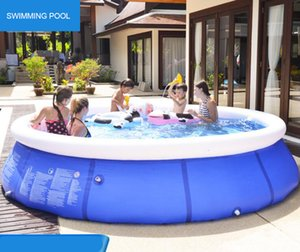 Großer Familienpool Inflatable Adult Pool Aufstockung verdickte Kinderspiel Folding Fisch Pool Multi Size