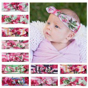 13 Estilos vendas bebé floral Rabbit Ears vendas del pelo Bandas bebés Bowknot Cabeza headress pelo de los niños accesorios M1958