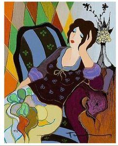 Peinture à l'huile Itzchak Tarkay Saman Home Décor Artisanats / HD huile d'impression Peinture Sur Toile Art mur toile Photos 191105