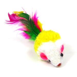 10pcs / lot doux polaire False Mouse Cat Jouets Coloré Plume Drôle Jouant Jouets Pour Chats Chaton Chat interactif jouet souris