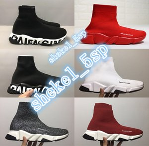 NEW luxury speed shoes Designer Sock Shoes High Quality sock Trainer Sneakers Men Women Trainers Stretch-knit Mid Sneakers Casual shoes