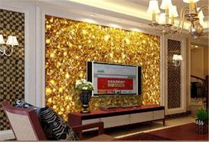 2019 New Golden 3D Wallpaper Classic European Wall | | الجمالية الأوروبي نمط داخلي التلفزيون خلفية الجدار الديكور Wallpap