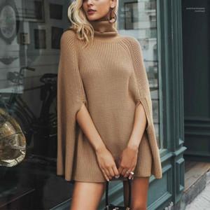 Sleeve Herbst Pullover Frauen-beiläufige Winter-Fest Farbe Weibliche Strickjacke lose gestrickte Pullover Frauen Pullover Bat