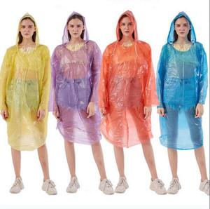 Tek Trençkotlar PE Seyahat Yağmur Coat Panço Rainwear Taşınabilir Su geçirmez Açık One Time Yağmur Aşınma OOA7876