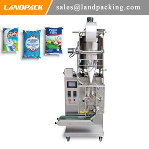 Máquina de sellado y llenado de forma vertical con sellado lateral de leche en bolsas totalmente automática de 3 lados