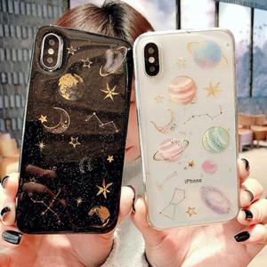 Caso TOP Phoen Per iPhone X 10 8 8 Plus 7 7Plus Star Capinha Glitter Custodie in silicone morbido Cover per iPhone 6 6s Plus TPU Case Coque