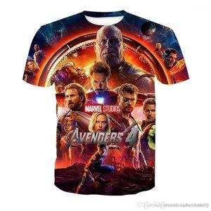 Baskı t shirt Erkekler Kadınlar Yaz Tişört Kısa kollu Marvel Film Tees Avengers 4 3d