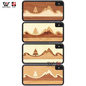 Amazon Top Seller 2019 Mountain Designs Natural Wood сотовый телефон чехол для iPhone 6 7 8 Plus X XR XS Макс Оптовая