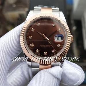 Luxe BP Factory Nouvelle photo 126334 Rose Gold Watch 41mm Everose-goud 2813 Mouvement automatique Sapphire Verre Mode Mens Montres