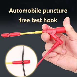 10A Professionelle Piercing Nadel Test Clips Multimeter Testing Probe Haken mit Clip 4mm Sockel Auto-Test
