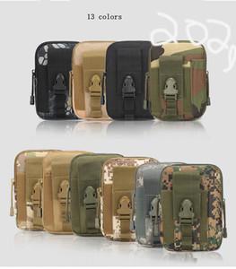 Exército Camo Camuflagem Bolsa Tático Militar Hip carteira de bolso Homens Outdoor Casual Desportivo cinto Telefone Capa estojo MMA1954-1