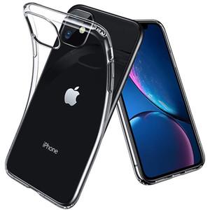 Ultra Mince Doux Mince TPU Silicone En Caoutchouc Gel Cas Transparent Transparent Pour iPhone 11 Pro Max XS XR X 8 7 6 6 S Plus Protection Anti-Knock