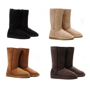 Fashion Winter Classic Tall Snow Boot Women Warm Boots Christmas Xmas Gift Simple Style for Ladies Shoes Chestnut Grey Black Sand Online