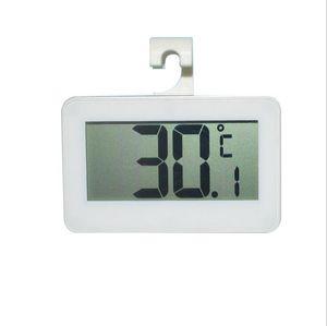 Цифровой водонепроницаемый холодильник морозильник комнатный термометр макс / мин функция записи с большим ЖК-дисплеем черный белый