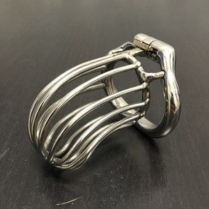 Male Long Chastity Cage Men's Large Size Stainless Steel Locking Belt Device 4 Optional Ergonomic Rings DoctorMonalisa CC283