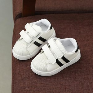 Spring and summer children's board shoes new student children's shoes shell head sports leisure white shoes parent-child