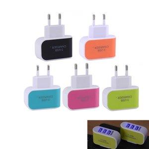 트리플 USB 포트에 아이폰 액세서리 tvUS EU 플러그 3 USB 벽 충전기 5V 3.1A LED 어댑터 여행 편리한 전원 어댑터