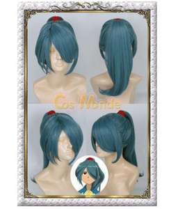 Free shipping<< NEW Inazuma Eleven Kazemaru Itirouta Anime Cosplay Hair Wig Synthetic Wigs