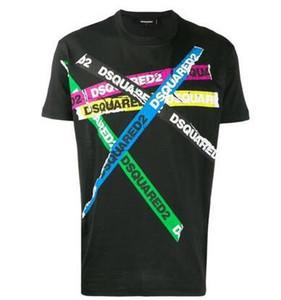 2020 hombres de diseño de marca nueva llegada del verano de calidad superior de lujo Tees Ropa para Hombres D2 t shirtPrint camisetas de la modadsquared2 hombres camiseta