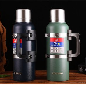 New Super Large Capacity 3L 304 Stainless Steel Thermos Kettle Water Bottle Outdoor Car Travel Sports Thermos Pot Cup Man