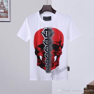 erkek tasarımcı t shirt Mens Kafatası tişört Yüksek Kalite baskı t shirt Tees tasarımcı Ayakkabılar sandal Phillip düz Phillip Düz PP yy01