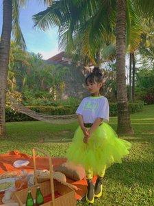 Kız bebekler yaz gömlek ve Tutu Etek Kabarık Çocuk Balesi Çocuk Kız Bebek Etekler Prenses Tül Parti Dans Etekler Bırak nakliye