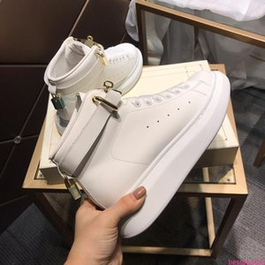 Luxury Platform Designer Shoes Reflective Triple Black Velvet White Golden Mens Womens Casual Sneakers Party Dress Fashion Leather Shoe3cca#