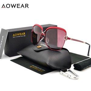 Kadınlar óculos Gafas De Sol için AOWEAR Tasarımcı Boy Güneş Kadınlar Polarize UV400 Shades Cateye Gözlük