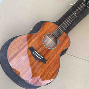 36 Inch Mini Solid Wood Rosewood Fingerboard Travel Acoustic Guitar free shipping