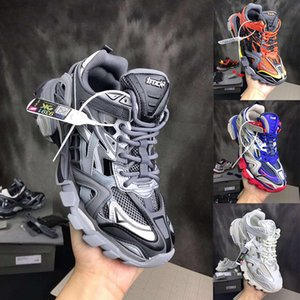 Бесплатная доставка DHL Track.2 Trainer кроссовок неуклюжих обуви мужчины женщины тапки Тройной обуви кроссовки Самого лучшего качество с оригинальной коробкой