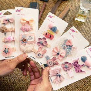 Kız Çocuk Çocuk Duckbill Firkete Renk Güzel Karikatür Şeker Renk Tokalar Saç Klip Gökkuşağı Saç Klip Rastgele
