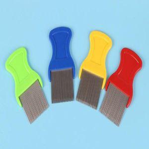Aço Cat Dog Pet Lice Comb Seguro inoxidável Lice Comb Seguro Intensivo Needle Comb Outros Cão Suprimentos WY349Q