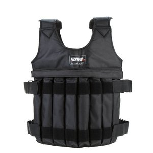 SUTEN Max 20 kg di peso del carico regolabile Weighted Vest giacca giubbotto esercizio di allenamento di boxe invisibile Weightloading sabbia clothi