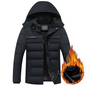 Homens Inverno Quente New Jacket -20 graus Engrossar Quente Velo masculinos Casacos Outwear Casacos Homens parkas com capuz