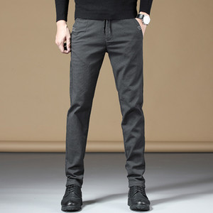 Men Pants Fashion Dress Men's Brand Business Casual Breathable Not Creased Trousers High Quality Suit Pants Male