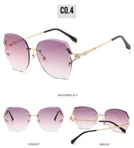 Frameless Sunglasse 45360 Ccspace 8 Color 32G Irregular Frameless Sunglasses Women Gradient Alloy Frame Brand Glasses Designer bwkf lUUHt