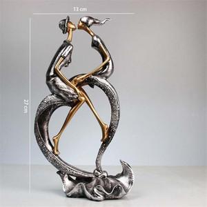 Bacio coppia statuetta in resina Handcarfts amanti Statua Figurine decorazione domestica Original Design Amore Artigianato per Home Office
