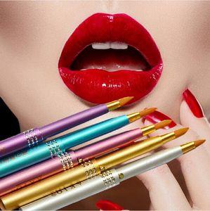 Trucco per le donne Portatile Retrattile Moda Cosmetico Mini Lip Brush Rossetto Gloss Beauty Women Girls Lip Brush