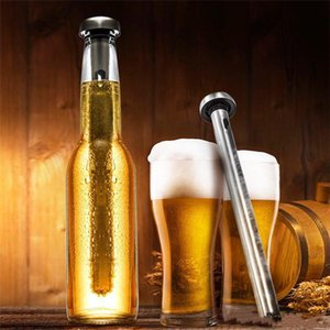 Hot Stainless Steel Wine Liquor Chiller Cooling Ice Stick Rod In-Bottle Pourer Beer Chiller Stick Chill Alcohol Ice Drinks Wine Cold