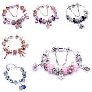 Al por mayor-Nueva moda europea encanta las pulseras para las mujeres 925 de la aleación cadena de la serpiente de los brazaletes joyería al Childrens día como un regalo # 409