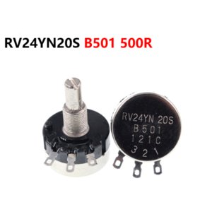 Single turn carbon film potentiometer RV24YN20S B501 500R adjustable resistor