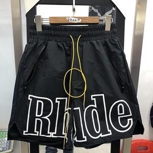 Rhude Shorts Hommes Femmes Mode Casual 3M Reflective Planche à roulettes d'argent L Hip Hop plage Rhude poche zippée Short T200612
