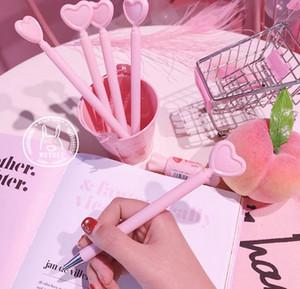 Más vendidos bolígrafos de gel Creative Heart-Shaped Signature Pen Girl Pink Love-Heart Sex Pen Student Office Stationery319