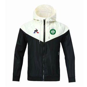Jaquetas de Top ASSE Khazri Windbreaker Futebol Jacket 2020 de futebol de moda com capuz Casacos Sportswear casaco de Formação de Futebol Windbreaker Homens