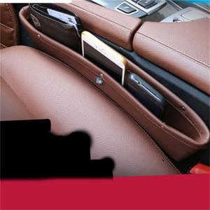 1pc PULeather Brown Auto Car Seat Gap Slit Poche de rangement Organisateur Catch Catcher Box Caddy Gants en cuir