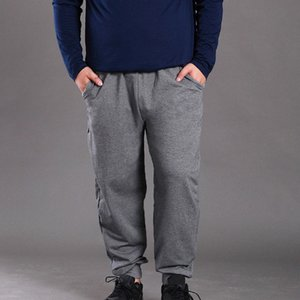 Spring autumn plus size men pants 5XL 6XL 7XL 8XL waist 150cm cotton Loose men pants