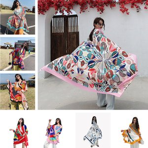 NEW 135x190cm Star with the same paragraph Cover-Ups Women Large Beach Dress Bikini Bathing Swimwear Cover Up Sarong Wrap Scarf Y200706
