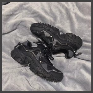 Fiery cat claw daddy shoes autumn 2020 thick bottom height-increasing sports shoes female claw shoes
