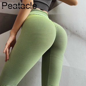 Peatacle Leggins Sport Women Fitness Energy Seamless Leggings High Waisted Yoga Pants Tights Gym Sexy 2019 New Y200529